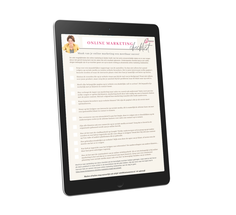 checklist-online-marketing-mkb